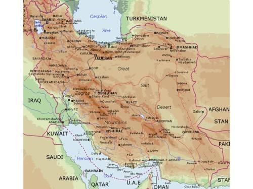 Map of Iran from MidEastWeb (www.mideastweb.org)