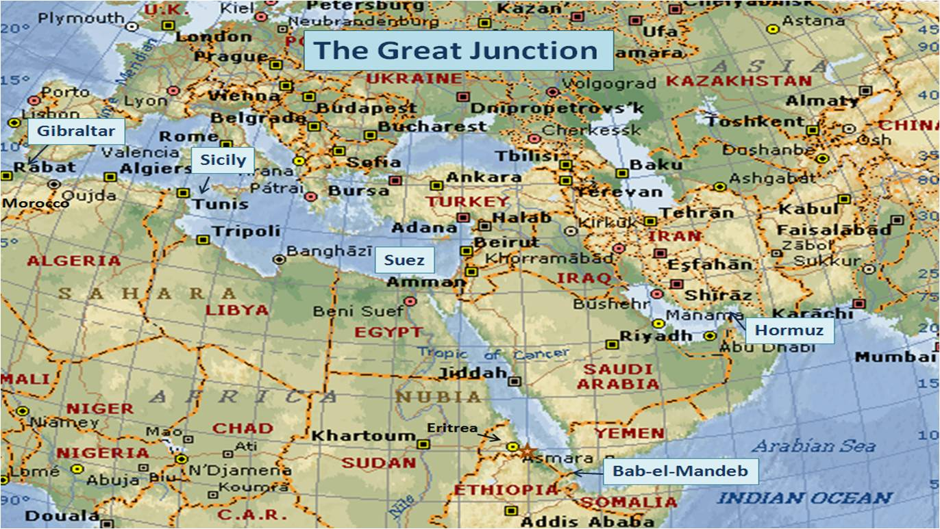 Israel And The West Geostrategically Speaking - Where is israel