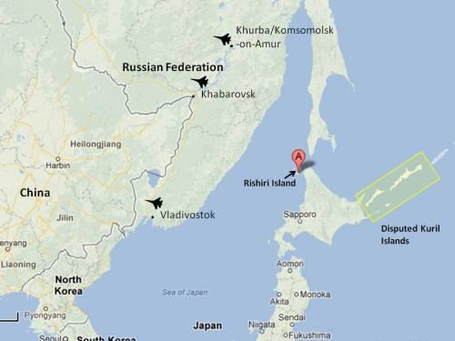 Rishiri Island air space violation, Sea of Japan