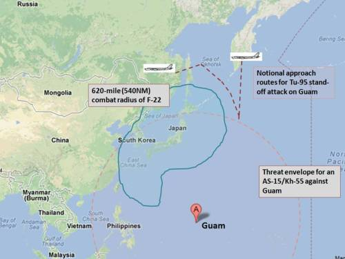 Threat calculus for Tu-95/AS-15 land-attack missile versus Guam