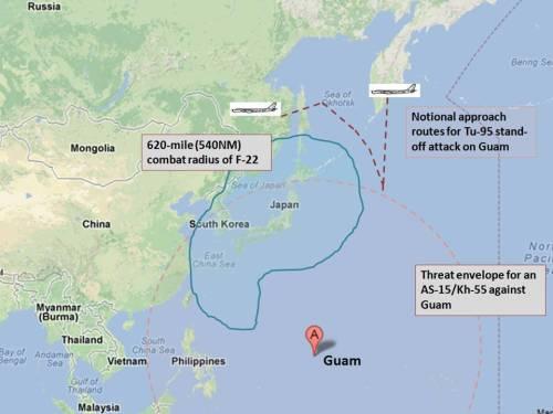 Threat calculus for Tu-95/AS-15 land-attack missile versus Guam