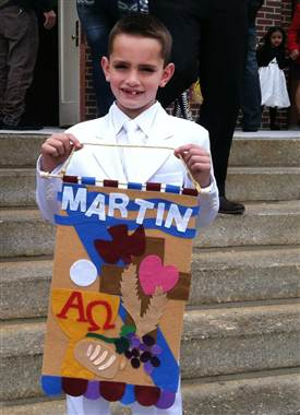 8-year-old Martin Richard on a happier day