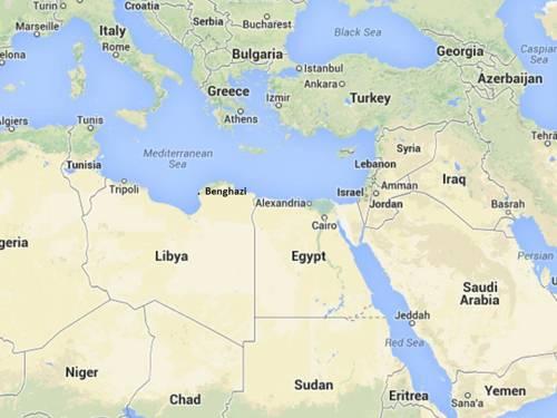 Egypt Libya map