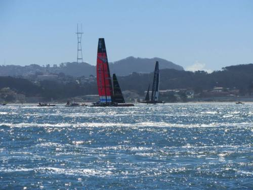 From a family member's photo album (they live in the Bay area and got to see the final race from a front-row seat)