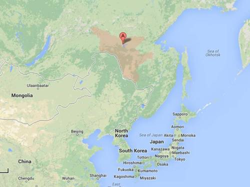 The Amur Region of the Russian Far East, where North Korea may contract for an agricultural settlement project. Google maps.