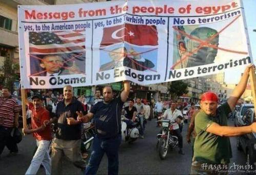 Egyptians protest Obama's perceived backing of the Muslim Brotherhood