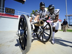 The Fremont Cannon, in good hands.