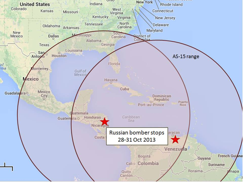 Russian Bombers Fly To Venezuela Nicaragua During Strategic - Us icbm range map