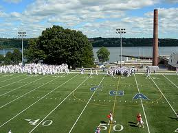 U.S. Coast Guard Academy: The view from Cadet Field.