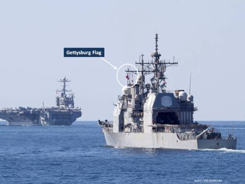 USS Gettysburg and USS Harry S Truman in the Gulf of Aden, Nov 2013 (NATO image)