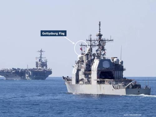 USS Gettysburg and USS Harry S Truman in the Gulf of Aden, Nov 2013 (NATO image)