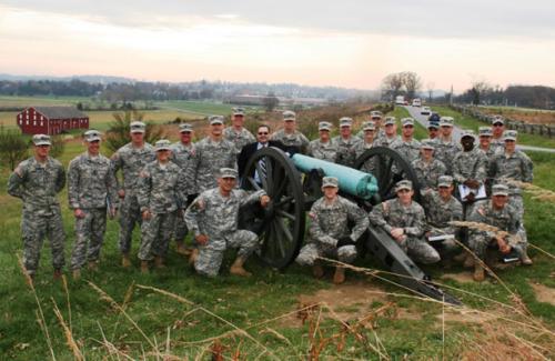 University of Ohio ROTC cadets at Gettysburg, Nov 2012