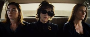 Women in black. (Julianne Nicholson, Meryl Streep, and Julia Roberts go yellow for August: Osage County)