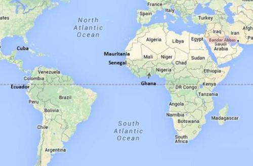 Iranian navy's new playground (Google map; author annotation)