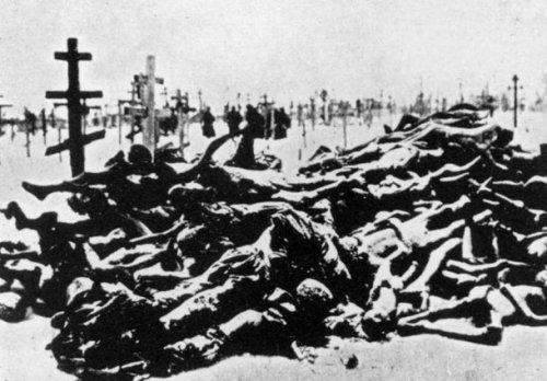 Ukrainian dead in the famine of 1932-33.