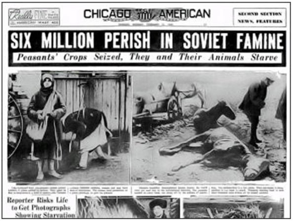 Western media coverage of the Great Famine.