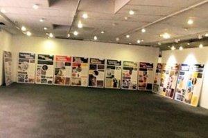 Jewish history exhibit, uninstalled.