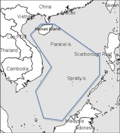 "Area where China will enforce the new ""fishing permit"" rule. (Map credit: Washington Free Beacon)"