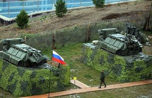 The Tor M-1 air defense system arrayed in Sochi. (Image posted at http://miragec14.blogspot.com/2014/01/sochis-anti-aircraft-missile-defense.html)