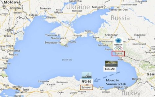 Keeping the southeastern Black Sea safe for democracy. (Google map; author annotations.  See text for ship tracking credits.)