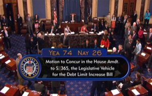 The 2011 vote to increase the debt ceiling -- under more normal circumstances. (AP photo)