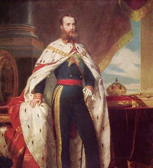"Maximilian I, ""Emperor of Mexico,"" was the brother of Franz Josef I of Austria. He was proclaimed Emperor of Mexico in 1964 with the backing of Napoleon III of France. Painting by Winterhalter."