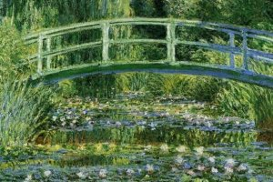 True fact: the world's museums are lousy with Monet water lilies. (The Water Lily Pond, Japanese Bridge. 1899. Princeton U. Art Museum.)