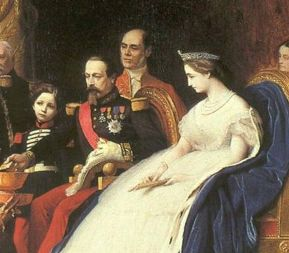 The face of Old World incursion into the Americas, 1860s-style.  Emperor Napoleon III of France and Empress Eugenie. Painted by Jean-Leon Gerome.