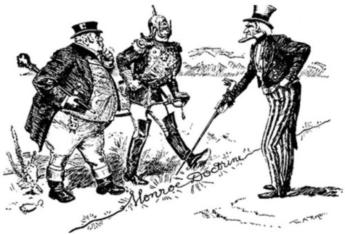 An optimistic view of the Monroe Doctrine. (New York Herald, 1902)