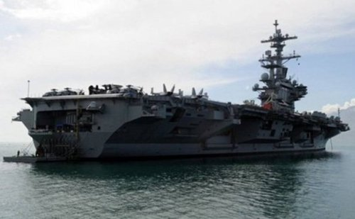USS George H. W. Bush anchored off Antalya 10 March.