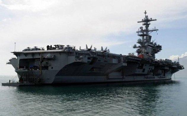 USS George H. W. Bush anchored off Antalya 10 March.