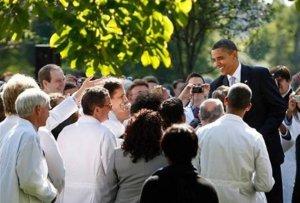 Gun-grabbers in white coats. (Photo: AP via Washington Post)