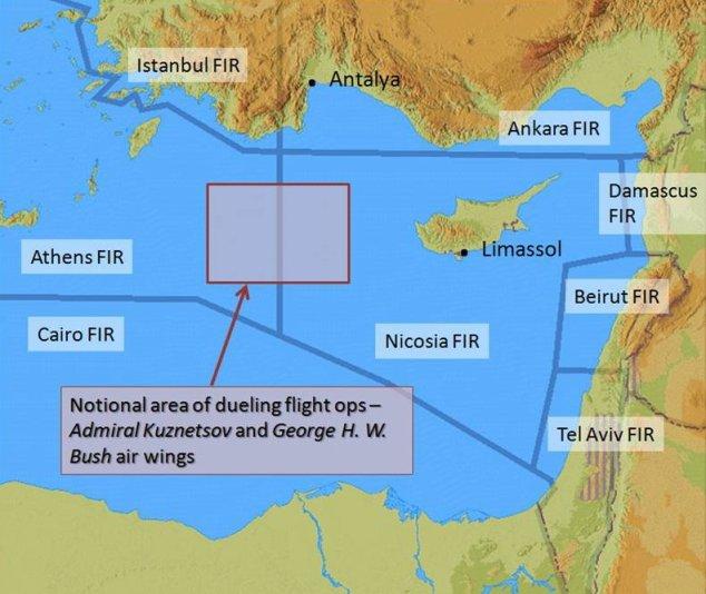 Flight information regions in the Eastern Med.