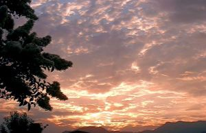 Sunrise over the San Bernardino Mountains of southern California (Author photo)