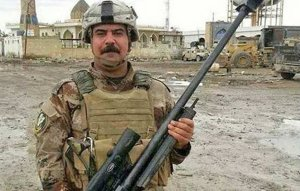 Iraqi soldier with Iranian Siavash rifle. (Image via War is Boring and Arab Forum)