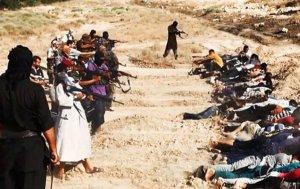 ISIS executes Iraqis during the seizure of Tikrit, just north of Samarra and Balad Air Base. (Image: AP)