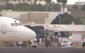 Passenger transfer in San Diego. (Image: NBC 7 SD)