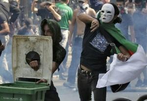 """Pro-Palestinian"" protesters hurl in Paris. (Image via Pamela Geller)"