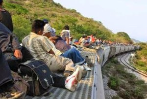 """Riding """"the beast."""" Migrants make the perilous journey through Mexico."""