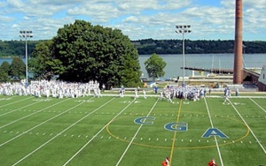 Some have to play and attend games here. U.S. Coast Guard Academy football field, New London, CT. (USCGA photo)