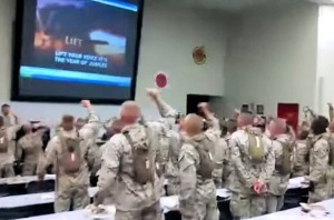 Marines sing
