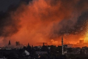 Syria is burning. (Image: AFP via BBC)