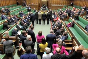 Banality of pandering: the House of Commons, 13 Oct 2014. (BBC image)