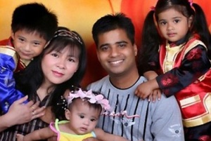Imran Firasat and family.