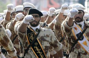 Iran's Revolutionary Guard Corps (IRGC) on the march. (Image: AFP via Der Spiegel)