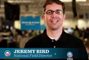 Obama's national campaign field director heads to Israel to avoid influencing the March 2015 election.