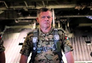 Under siege.  King Abdullah of Jordan, participating in a military exercise in July 2013. (Image: Instagram)