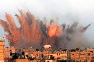 Egypt goes kinetic against ISIS in Derna, Libya on 16 Feb. (Image via Twitter)