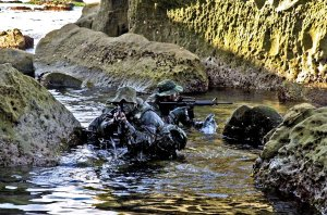 Coolest dudes on the planet, no matter whose pond they're wading in. (Image: U.S. Navy SEALs)