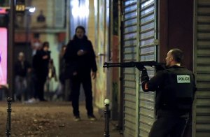 The house of war comes to Paris. (Image: EPA, Etienne Laurent via UK Guardian)